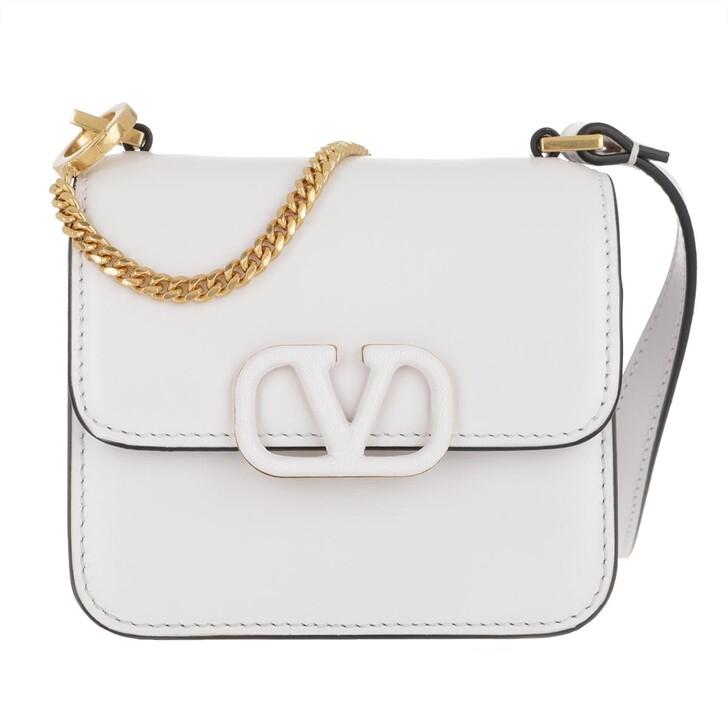 Handtasche, Valentino, VSLING Mini Crossbody Bag Calfskin White