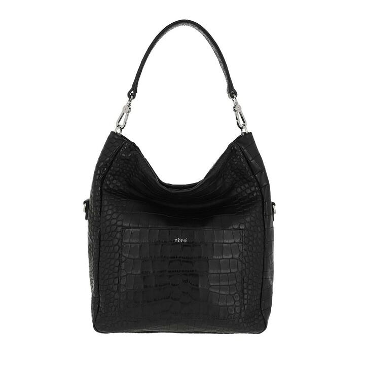 bags, Abro, Bucket RAQUEL small  Black/Nickel