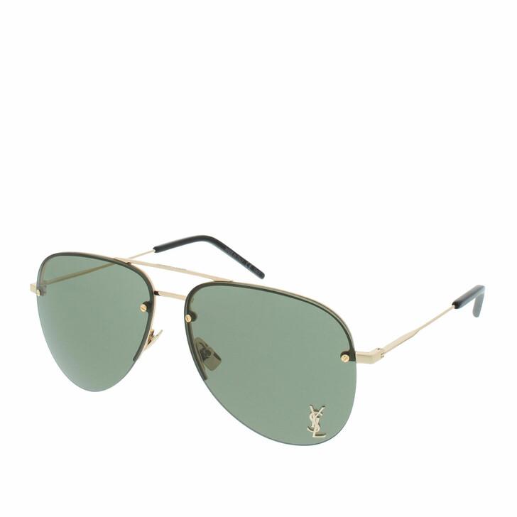 Sonnenbrille, Saint Laurent, Classic 11M Sunglasses Gold Bottle Green 59 13 140