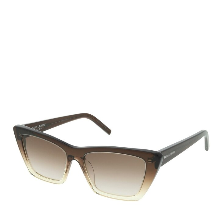 sunglasses, Saint Laurent, SL 276 MICA-019 53 Sunglasses Woman Brown