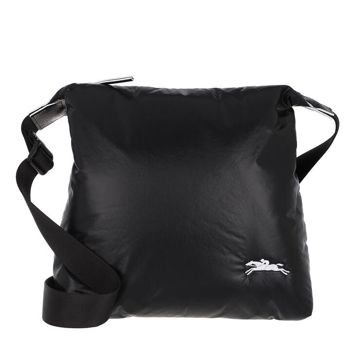 bags, Longchamp, Le Pliage Alpin Shoulder Bag  Black