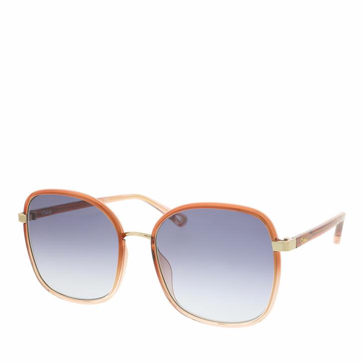 Sonnenbrille, Chloé, Sunglass WOMAN INJECTION ORANGE-ORANGE-BLUE