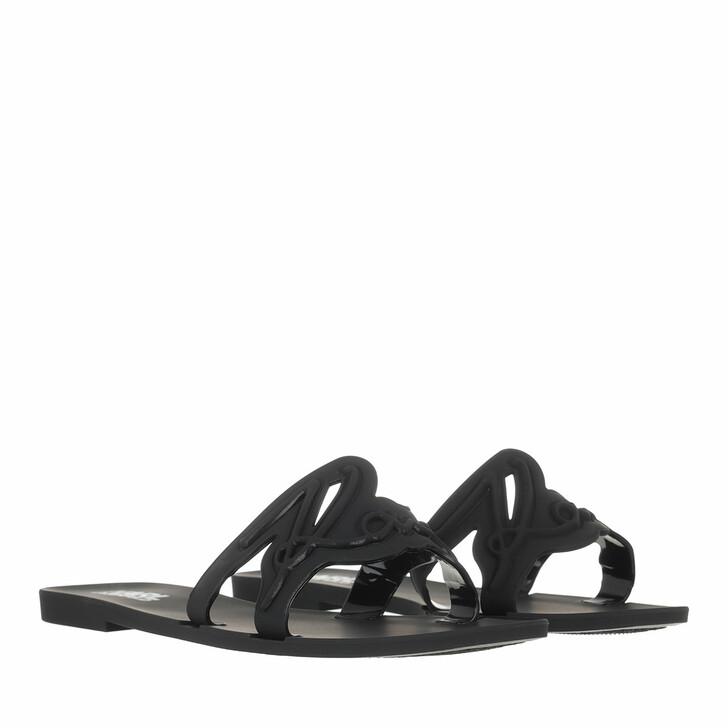 Schuh, Karl Lagerfeld, JELLY Signature Slide Black Rubber