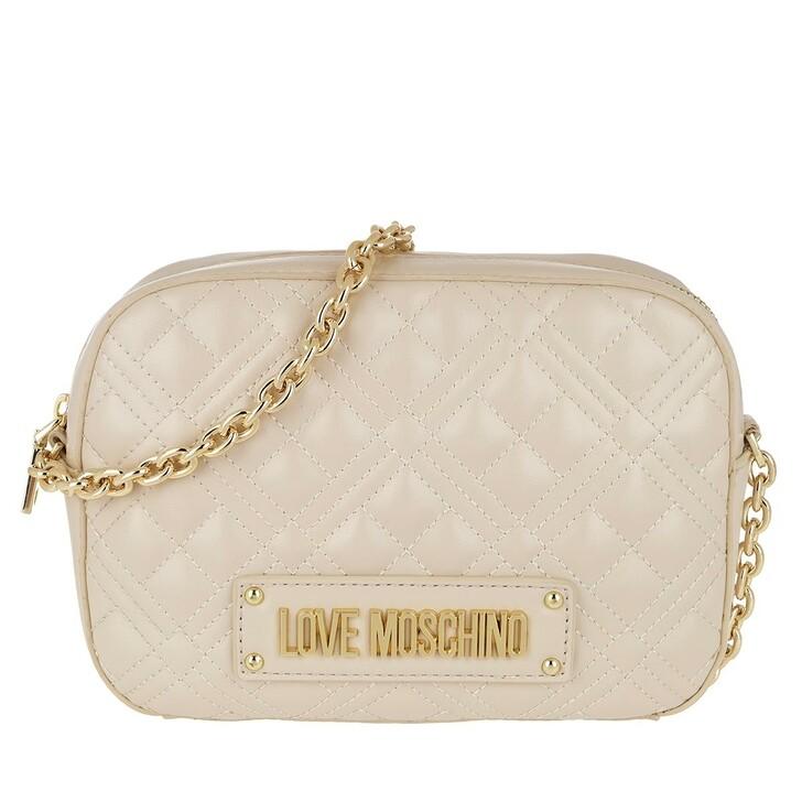 Handtasche, Love Moschino, Quilted Handle Bag Avorio