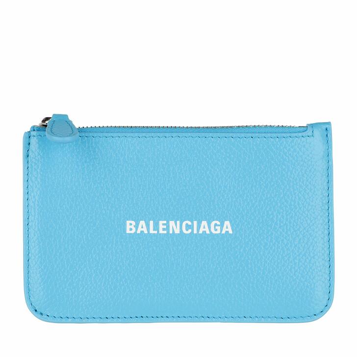 wallets, Balenciaga, Neo Classic Card Holder Azur White