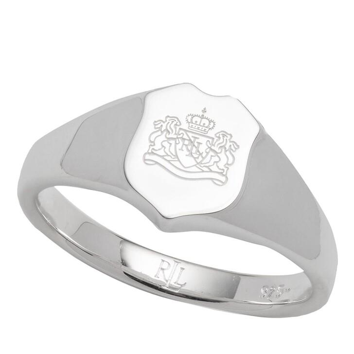Ring, Lauren Ralph Lauren, Sterling Silver Shield Ring Silver