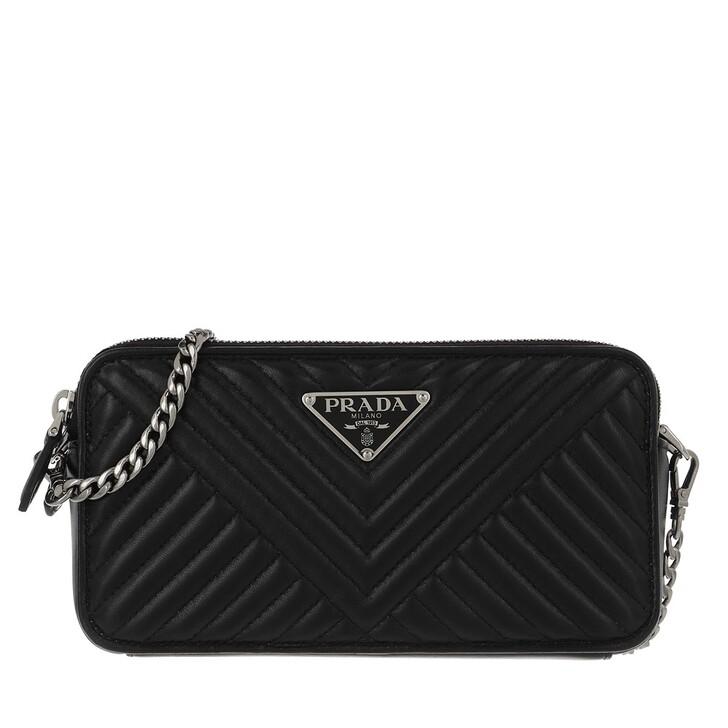 Handtasche, Prada, The Diagramme Mini Crossbody Bag Leather Black
