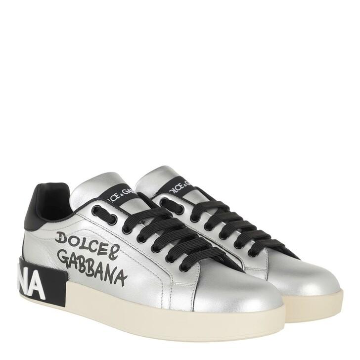Schuh, Dolce&Gabbana, Portofino Sneakers Silver