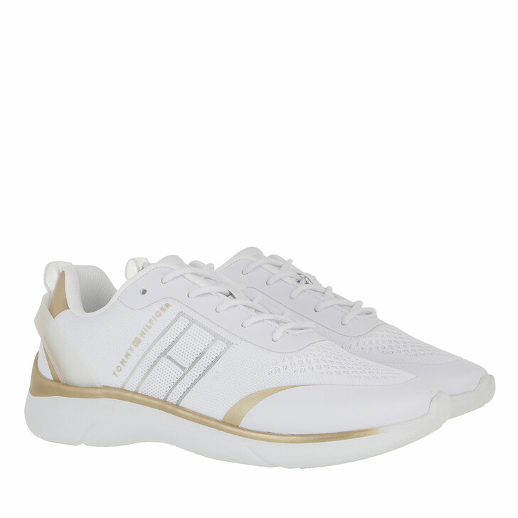 Schuh, Tommy Hilfiger, Knitted Light Sneaker White