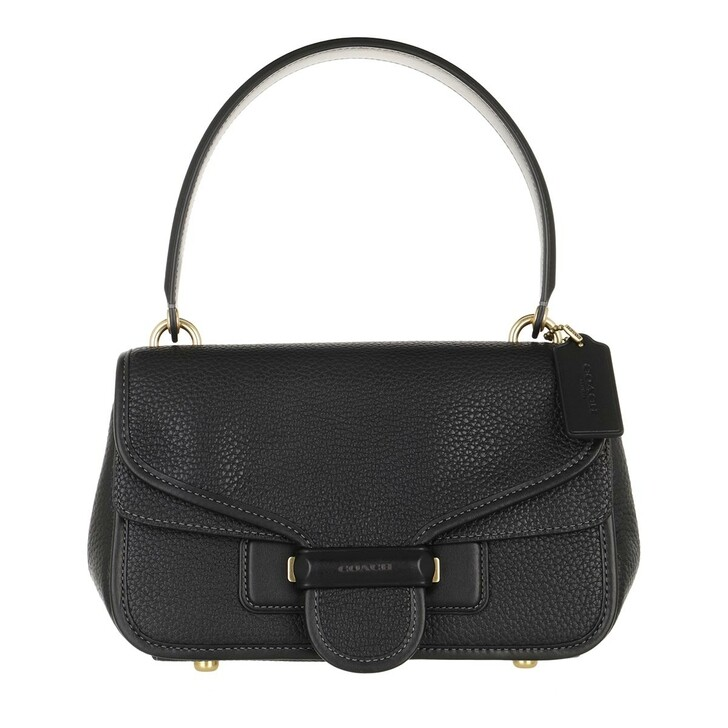 bags, Coach, Soft Pebble Leather Cody Shoulder Bag Black