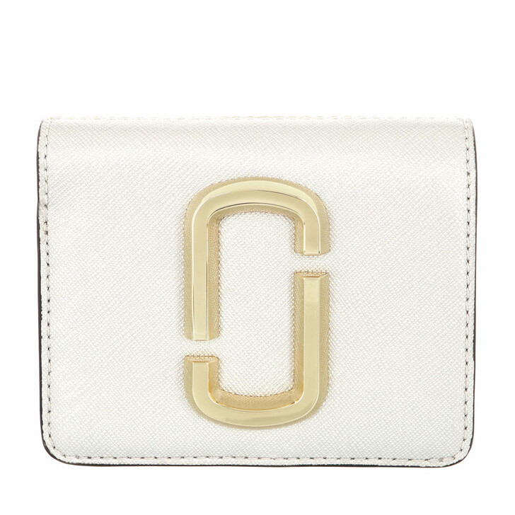 wallets, Marc Jacobs, Snapshot Wallet Leather White/Gold