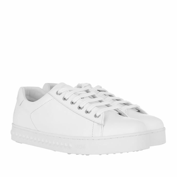 Schuh, MCM, Logo String Added Sneaker White