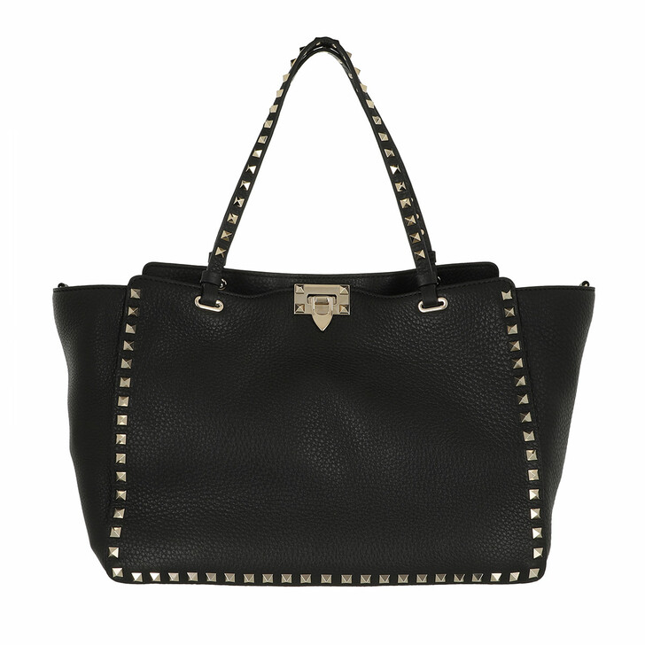 bags, Valentino Garavani, Rockstud Shopping Bag Black
