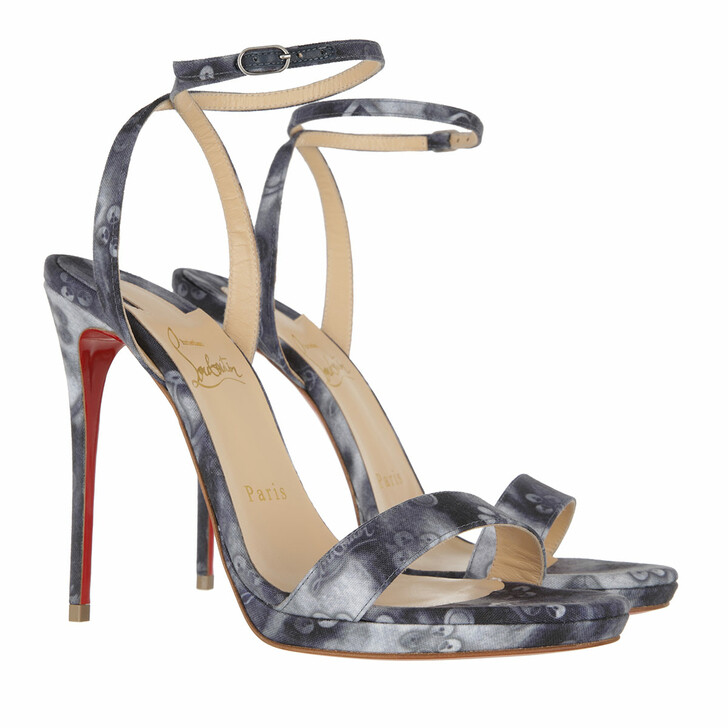 Schuh, Christian Louboutin, Queen 120 Punk Sandals Denim/Multi