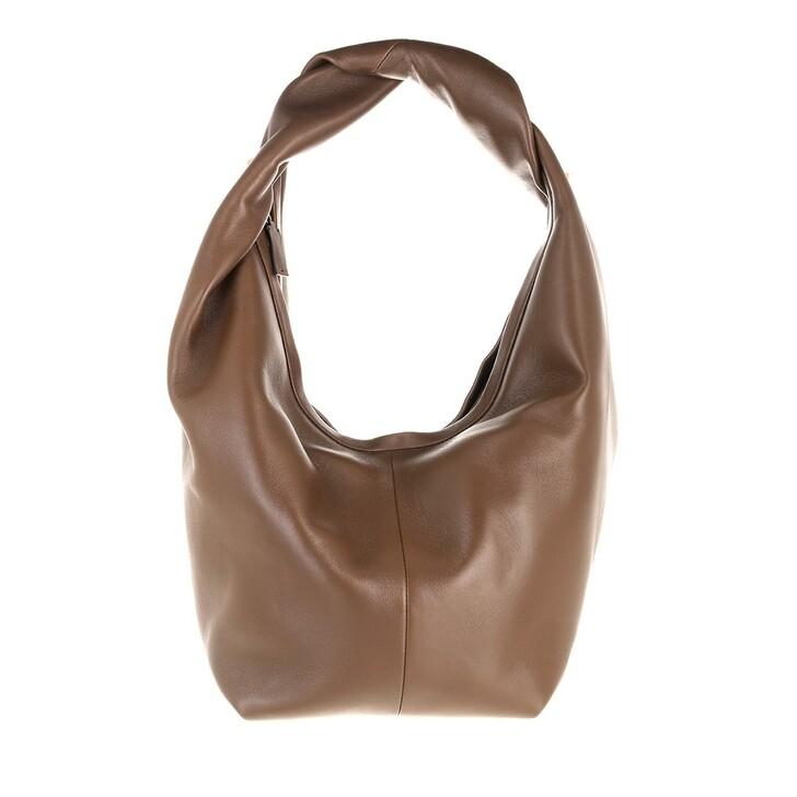 bags, Valentino Garavani, Roman Stud The Hobo Bag Nappa Teak Brown