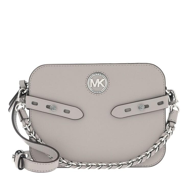 Handtasche, MICHAEL Michael Kors, Carmen Large Camera Crossbody Bag Pearl Grey