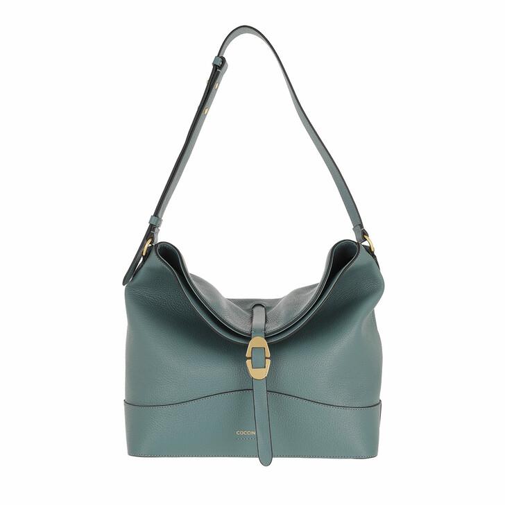 bags, Coccinelle, Josephine Handbag Grained Leather / Shark Grey Shark Grey