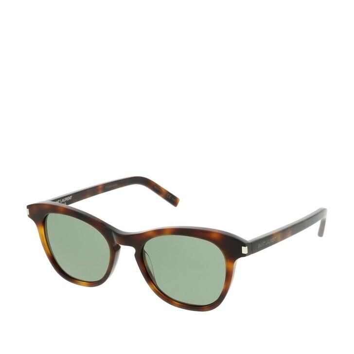 Sonnenbrille, Saint Laurent, SL 356-003 49 Sunglasses Havana-Havana-Green
