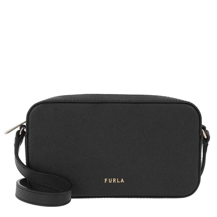Handtasche, Furla, Block L Crossbody Nero