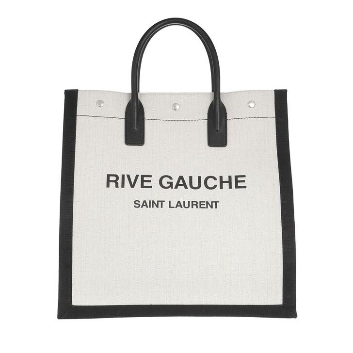 bags, Saint Laurent, Rive Gauche Tote Bag White/Black