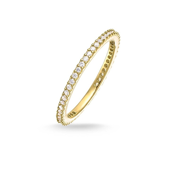 rings, Thomas Sabo, Eternityring Pavé Gold