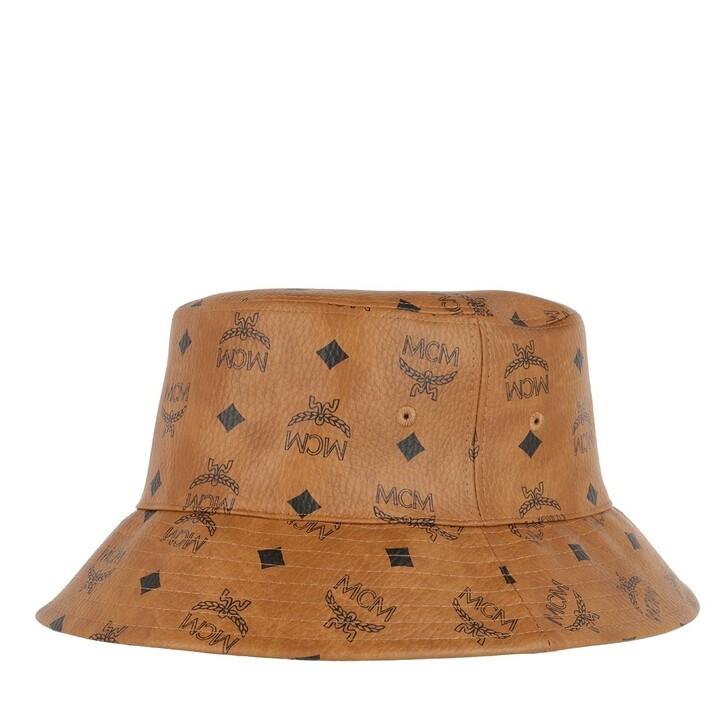 Handtasche, MCM, Visetos Bucket 58   Cognac