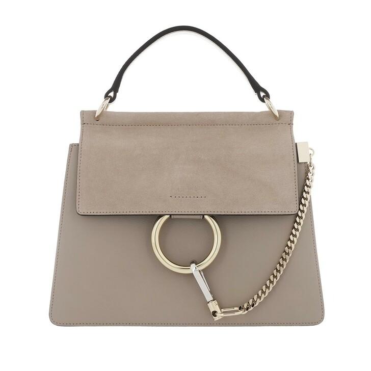 bags, Chloé, Faye Shoulder Bag Leather Motty Grey
