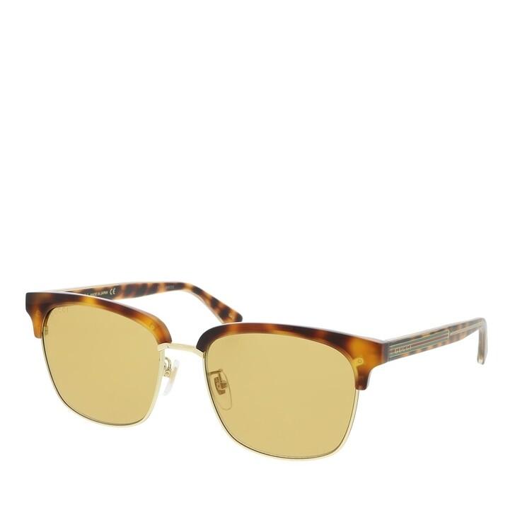 Sonnenbrille, Gucci, GG0382S-004 56 Sunglass MAN ACETATE HAVANA