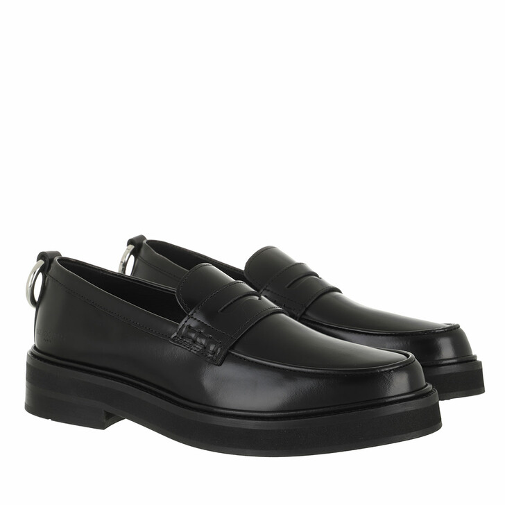 shoes, The Kooples, Leather Loafer Black