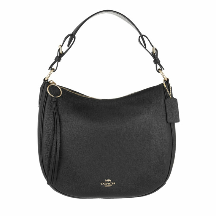 Handtasche, Coach, Pebble Sutton Hobo Bag Leather Black