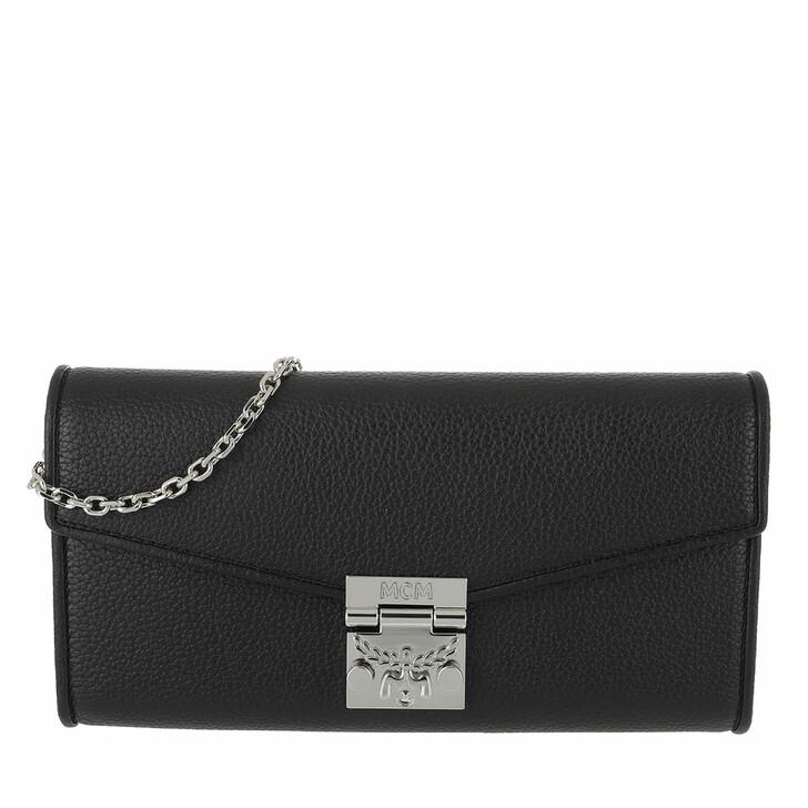 wallets, MCM, Patricia Park Avenue Flap Wallet Large Black