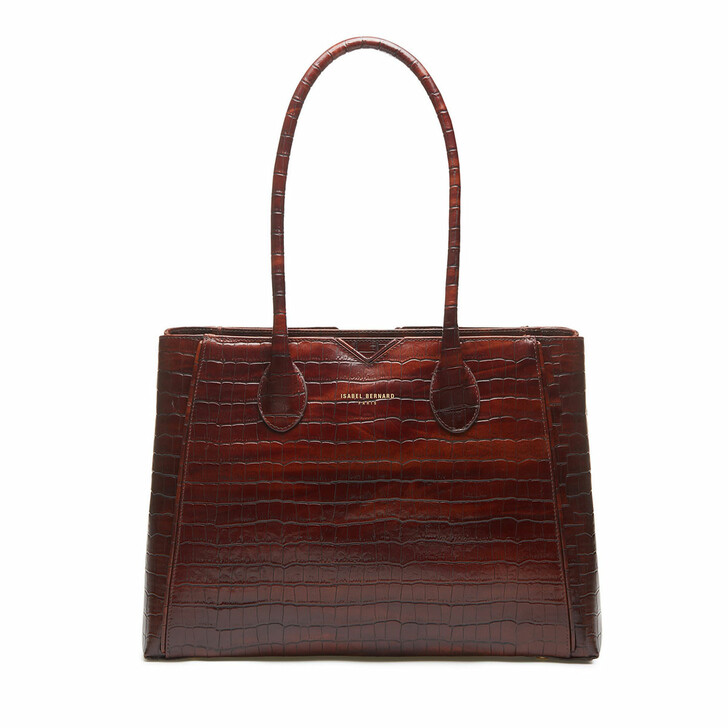 bags, Isabel Bernard, Handbag Croco Brown