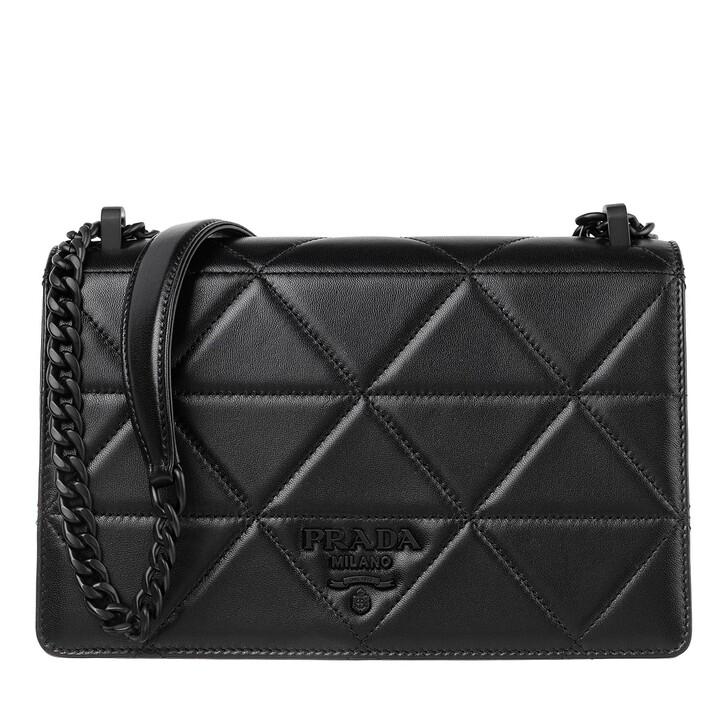 Handtasche, Prada, Spectrum Shoulder Bag Leather Black Black
