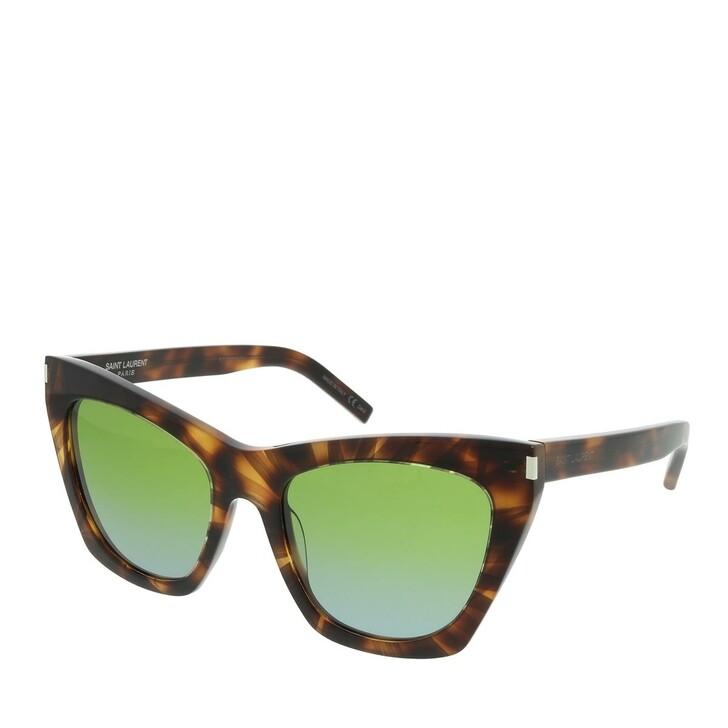 Sonnenbrille, Saint Laurent, SL 214 KATE Sunglasses 55 Havana