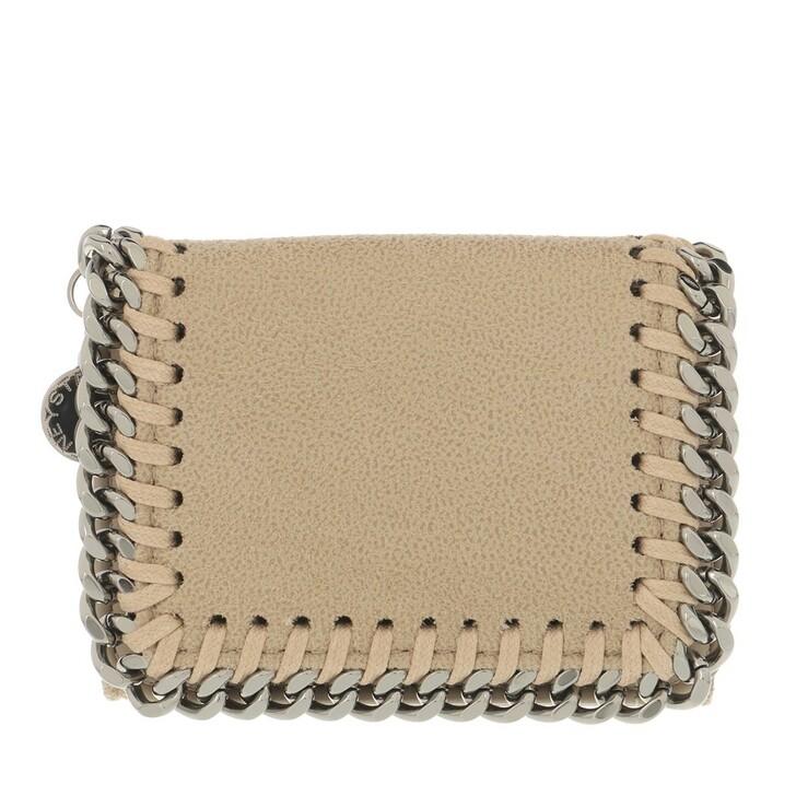 Geldbörse, Stella McCartney, Falabella Mini Wallet Leather Butter Cream