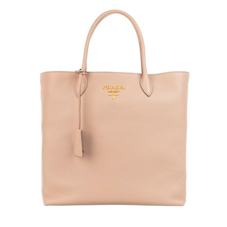 Handtasche, Prada, Shopping Bag Vitello Daino Camme