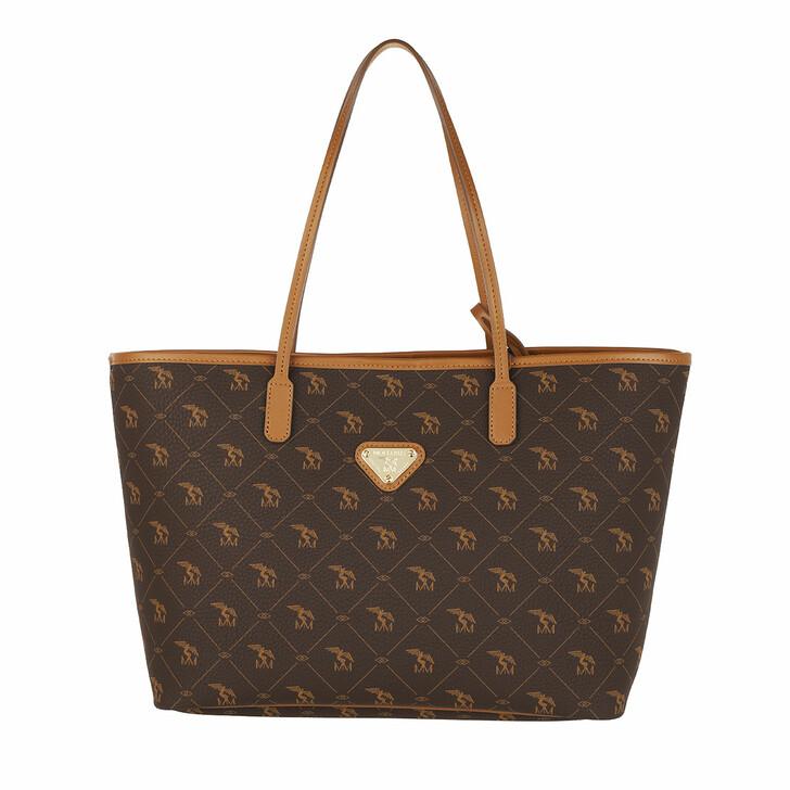 Handtasche, Maison Mollerus, Bern Shopper Pecarus Soft Braun Gold