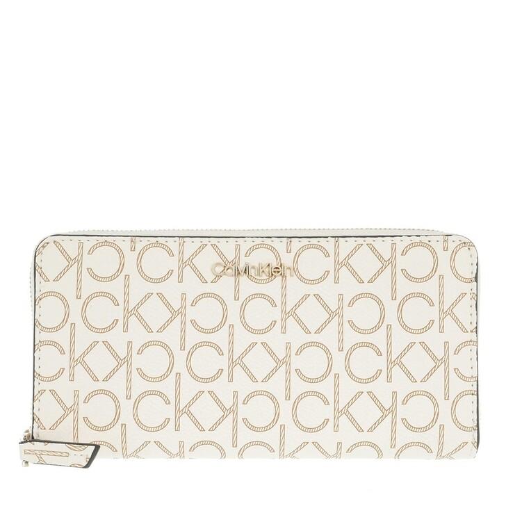 Geldbörse, Calvin Klein, Large Monogramme Zip Around Wallet Birch