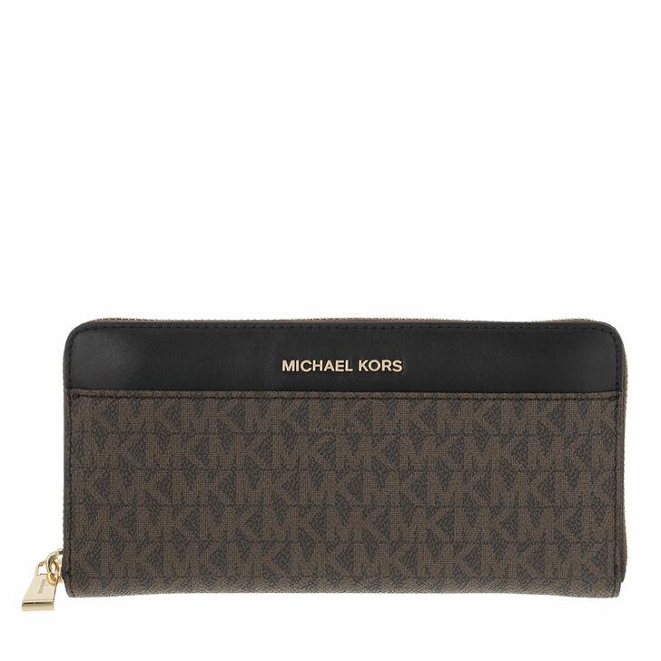 wallets, MICHAEL Michael Kors, Pocket Za Continental Brown/Black
