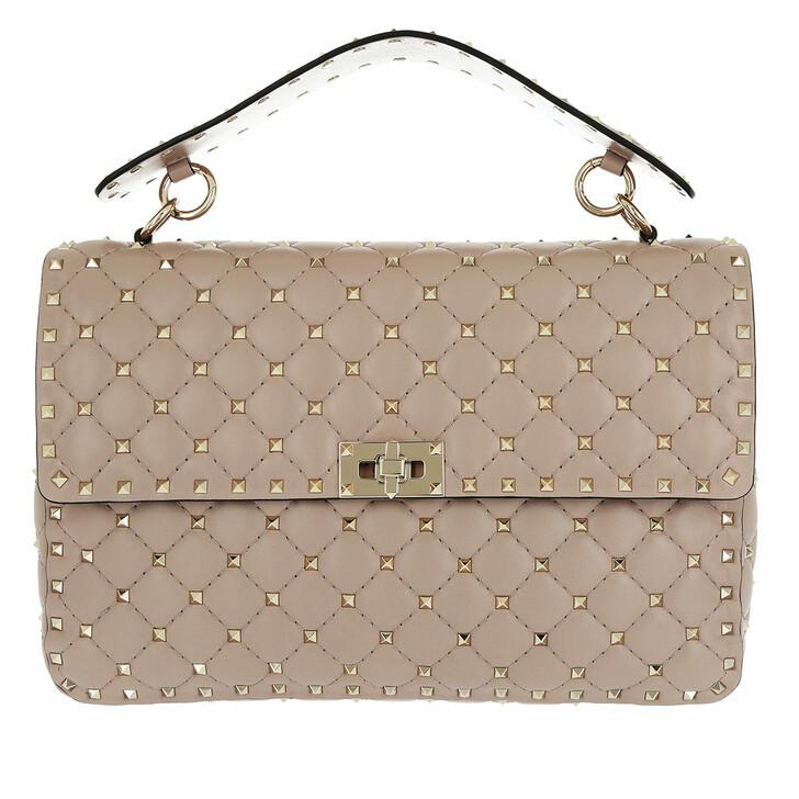 Handtasche, Valentino, Rockstud Spike Large Crossbody Bag Poudre