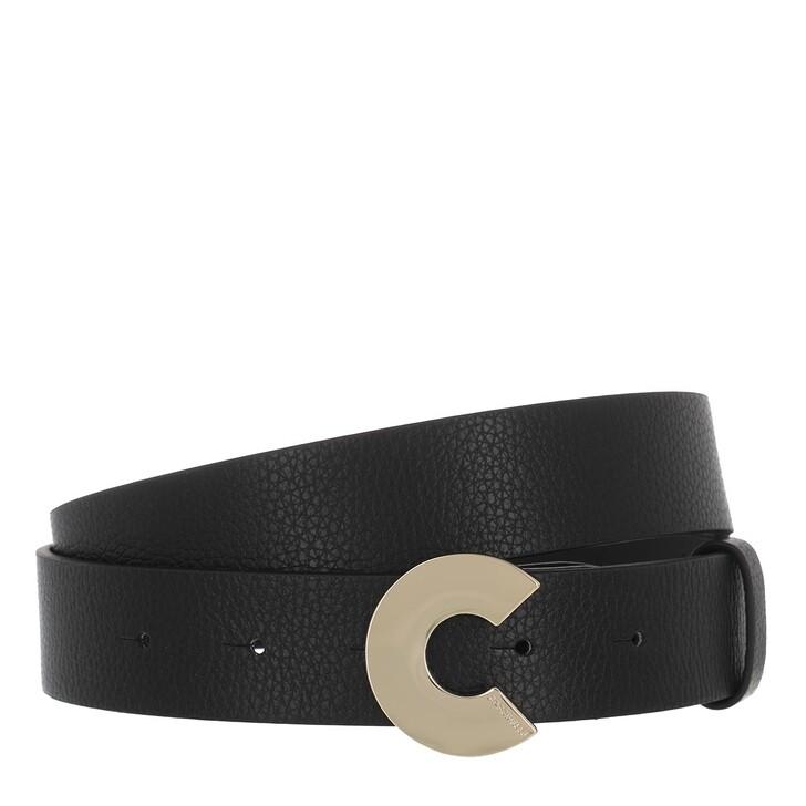 "Gürtel, Coccinelle, Logo ""C"" Belt Noir"