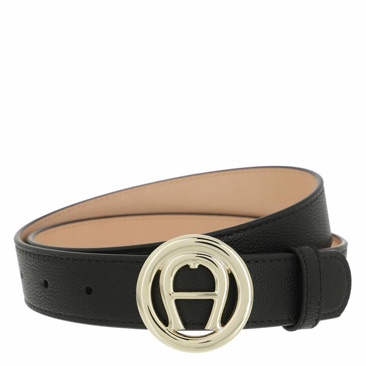 belts, AIGNER, Livia Belt 3 cm Black