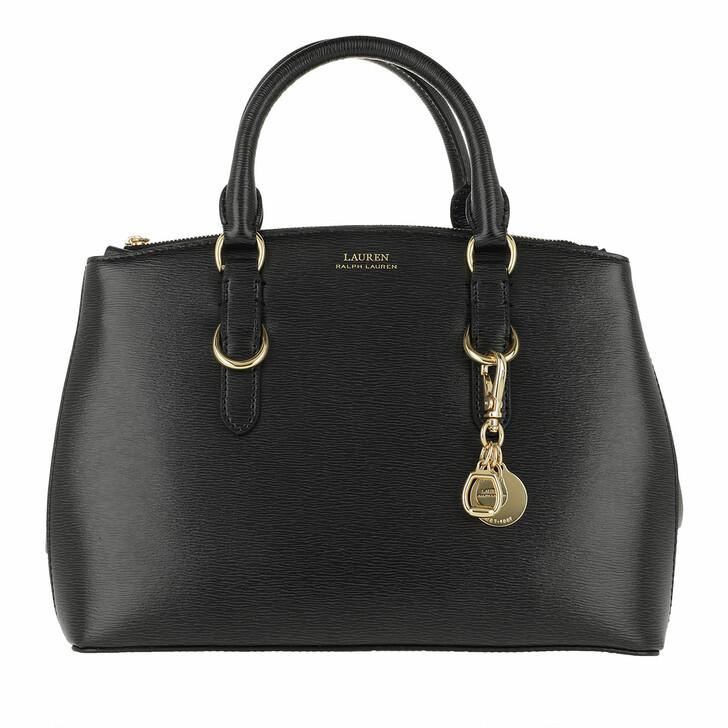 Handtasche, Lauren Ralph Lauren, Zip Satchel Bag Mini Saffiano Leather Black
