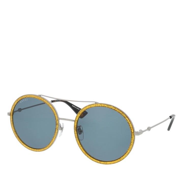 Sonnenbrille, Gucci, GG0061S-004 56 Sunglass WOMAN METAL RUTHENIUM