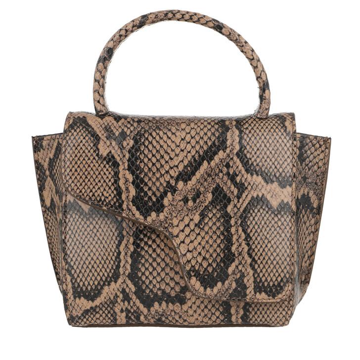 Handtasche, ATP Atelier, Montalcino Tote Bag Printed Snake Brown