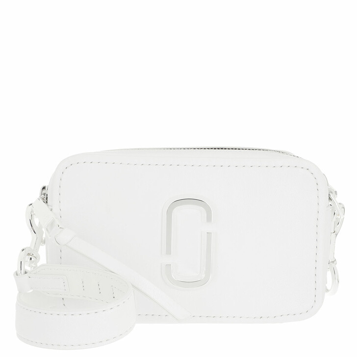 bags, Marc Jacobs, The Softshot DTM Crossbody Leather White