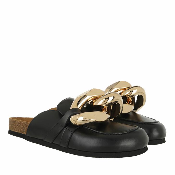 shoes, J.W.Anderson, Calf Tresor Chain Mules Black