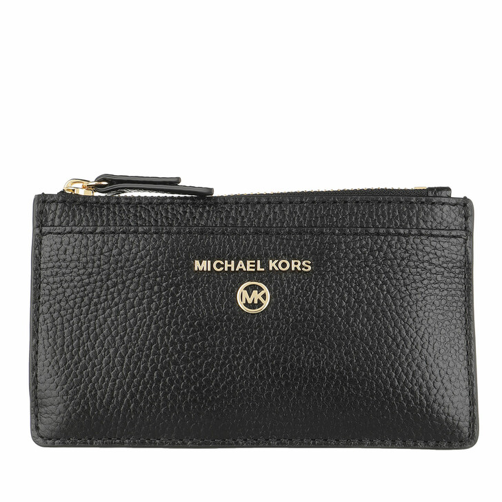 Geldbörse, MICHAEL Michael Kors, Jet Set Charm Slim Card Wallet Leather Black