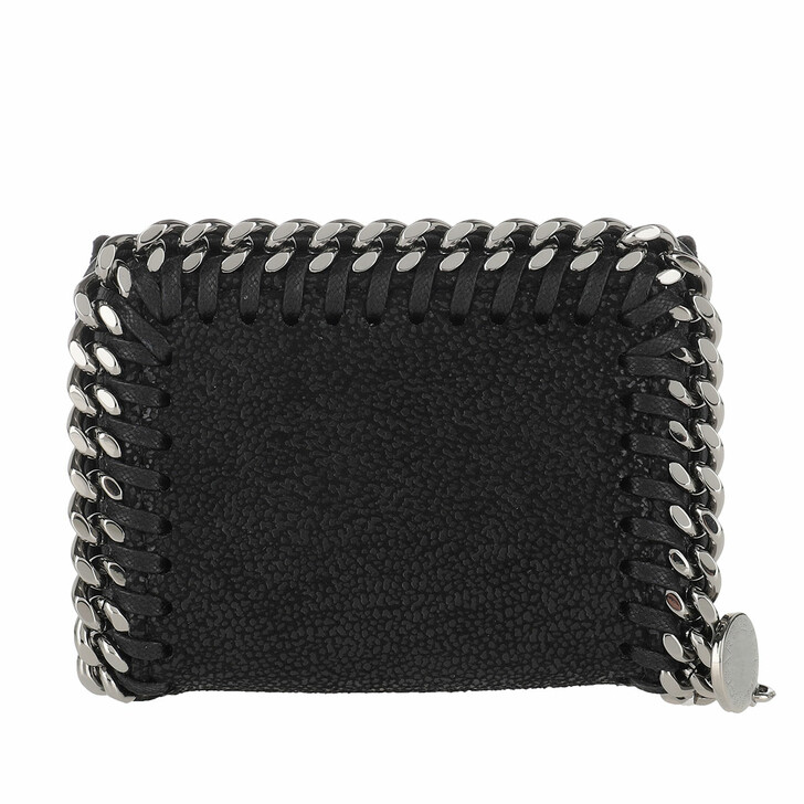 Geldbörse, Stella McCartney, Falabella Mini Wallet Leather Black