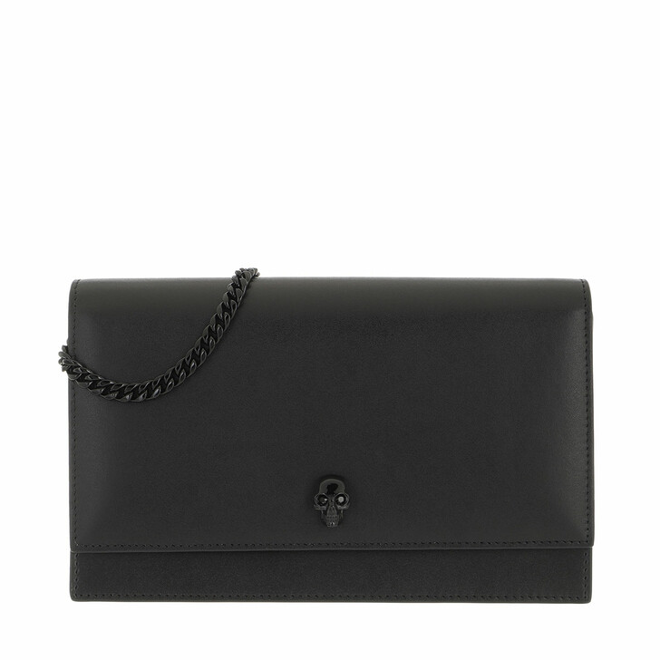 bags, Alexander McQueen, Skull Crossbody Bag Black